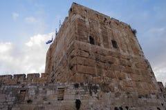 Toren van David - Jeruzalem - Israël stock foto