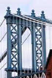 Toren van de Brug van Manhattan Royalty-vrije Stock Foto's