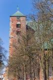 Toren van de Dom kathedraal in Verden stock foto's