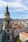 Toren van de kapel van St Stephen& x27; s Kathedraal in Boedapest Hongarije stock foto's