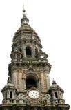 Toren van de Kathedraal van Santiago DE Compostela Stock Fotografie