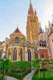 Toren van de Kerk van Onze Dame stock foto