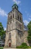 Toren van de oude kerk in Nordhorn Stock Afbeeldingen