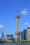 Toren van de Pareltv van Shanghai pudong de Oosterse Stock Foto's