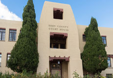 Toren van Eddy County Courthouse in Carlsbad New Mexico Stock Foto's