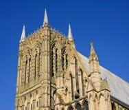 Toren van een Engelse kathedraal Royalty-vrije Stock Afbeeldingen