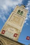 Toren van een moskee in Tunis Stock Foto