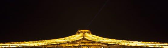 Toren van Eiffel bij nacht in Parijs, Frankrijk Royalty-vrije Stock Foto