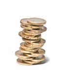 Toren van euro muntstukken Stock Foto's