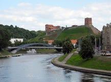 Toren van Gediminas-Kasteelheuvel in Vilnius stock fotografie