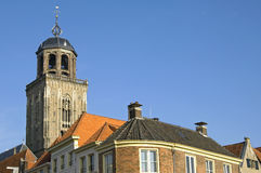 Toren van Grote Kerk of Lebuinus-Kerk, Deventer stock fotografie
