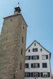Toren van Heilige Peters Church in Lindau Duitsland royalty-vrije stock foto's