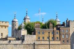 Toren van het Close-upweergeven van Londen stock foto's