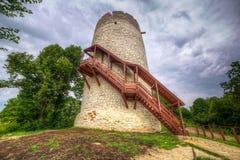 Toren van het kasteel in Kazimierz Dolny Stock Afbeeldingen