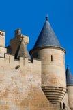 Toren van het kasteel van Olite Stock Foto's