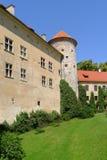 Toren van het kasteel van Pieskowa Skala Stock Afbeeldingen