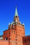 Toren van het Kremlin en Rode muur Stock Foto's