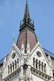 Toren van het Parlementsgebouw, Boedapest stock afbeeldingen