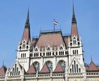 Toren van het Parlementsgebouw, Boedapest stock foto's