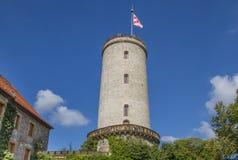 Toren van het Sparrenburg-kasteel in Bielefeld Royalty-vrije Stock Afbeeldingen