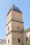 Toren van het Ziekenhuis DE Santiago, Ubeda, Jaen, Spanje stock afbeeldingen