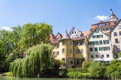 Toren van Hoelderlin in Tübingen, Duitsland stock afbeeldingen