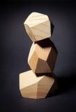 Toren van houten elementen Stock Foto's