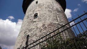 Toren van Joan van Boog in Rouen, Normandië Frankrijk, PAN stock videobeelden