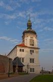 Toren van Jusuit-Universiteit (1667) in Kutna Hora Lange blootstelling Royalty-vrije Stock Afbeelding