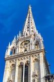 Toren van Kathedraal - Zagreb, Kroatië, Europa stock foto's