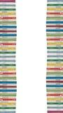 Toren van kleurrijke echte boeken Stock Afbeelding