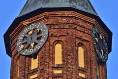 Toren van Koenigsberg-Kathedraal, Gotische tempel van de 14de eeuw Symbool van Kaliningrad tot 1946 Koenigsberg, Rusland stock afbeelding