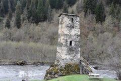 Toren van Liefde in Mestia, svaneti, Georgië Royalty-vrije Stock Foto