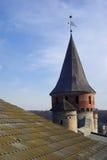 Toren van middeleeuwse vesting Stock Afbeeldingen