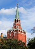 Toren van Moskou het Kremlin Royalty-vrije Stock Foto's