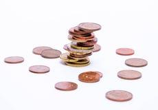Toren van muntstukken Stock Foto's