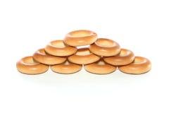 Toren van ongezuurde broodjes Stock Foto