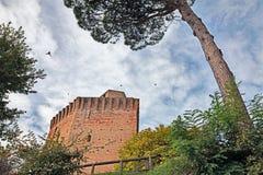 Toren van Oriolo-dei Fichi in Faenza, Emilia Romagna, Italië Stock Afbeeldingen