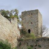 Toren van Romaanse Eckartsburg in Duitsland Stock Afbeeldingen