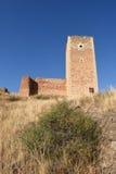 Toren van San Cristobal, muren, S XIV, Daroca royalty-vrije stock fotografie
