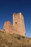 Toren van San Cristobal, muren, S XIV, Daroca Zaragoza provin royalty-vrije stock afbeelding