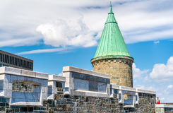 Toren van St John Gate in de Stad van Quebec, Canada Stock Afbeeldingen