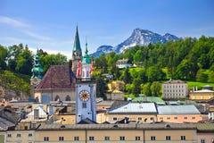 Toren van Stadhuis in Salzburg Stock Fotografie