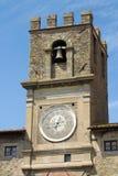 Toren van stadhuis van Cortona Stock Afbeeldingen