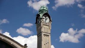 Toren van station in Rouen, Normandië Frankrijk, PAN stock videobeelden