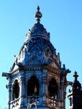 Toren van Synagoge in Szeged, Hongarije stock fotografie