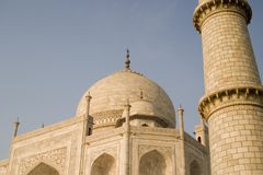 Toren van Taj Mahal, Agra, India. Stock Afbeelding