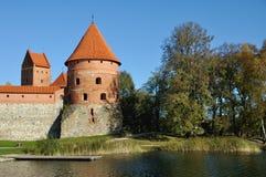 Toren van Trakai Kasteel, Litouwen Stock Foto