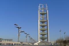 Toren van TV van het Park van China de Olympische in Peking Stock Foto