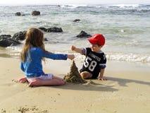 Toren van zand Stock Foto's